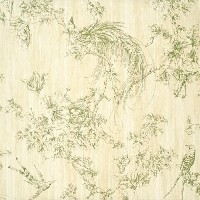 Wallpaper Designer Tropical Floral and Bird Toile